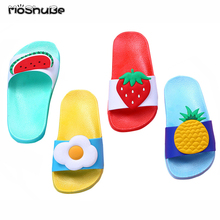 Детская одежда для девочек и мальчиков Женские Тапочки малыша воды шлепанцы Детские Босиком обувь с фруктовым принтом для плавания Лето для малышей