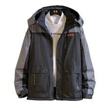 UYUK2019 Winter  Men New Windproof Rainproof Thick Warm Casual Large Pocket Hooded Mens Cotton Coat Homme Napapijri