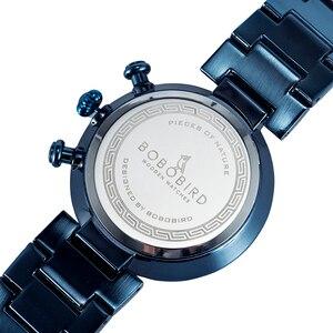 Image 5 - Часы мужские בובו ציפור עץ שעון גברים סטופרים בעבודת יד יפן תנועת קוורץ שעוני יד מתנה עבור זכר erkek kol saati