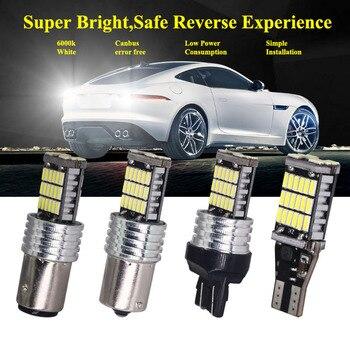 1pcs T15 T20 1156 BA15S P21W W16W 45SMD 4014 LED CANBUS NO ERROR Car Tail Bulb Brake Light Backup Reverse Lamp White Yellow 12V 1
