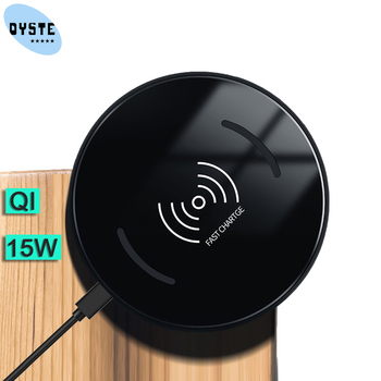 15W Fast QI Wireless Charger for iPhone 11 Pro X XR XS MAX 8 Plue Samsung S10 Plus S9 S8 Note 10 Smart phone Charge Charging Pad