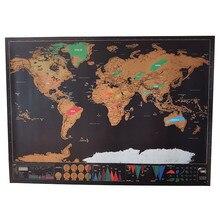 Wall-Sticker Erasable-Map Office-Decoration Travel World 10pcs Home