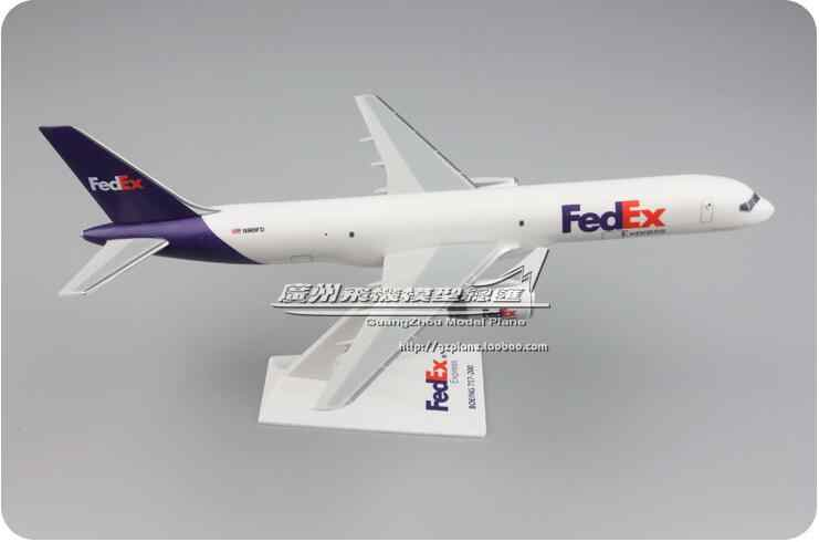 24 см пластиковая FedEx модель самолета B757-200 N901FD Airline модель самолета W Стенд самолет подарок