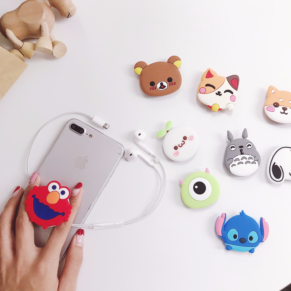Image 3 - Cute Universal Airbag Bracket Stitch Lucky Cat Phone Expanding Stand Cartoon Mobile Finger Holder Bear Milky Girl Cell Kickstand-in Phone Holders & Stands from Cellphones & Telecommunications