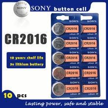 10 ピース/ロットソニーオリジナル CR2016 ボタン電池 3 v リチウム電池 cr 2016 腕時計リモートおもちゃコンピュータ電卓制御