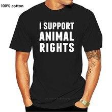 Camiseta con soporte de derechos de animales para mujer y hombre, ropa de algodón lisa de 100%, estilo vegano, de la película la crueldad, de moda, Verano