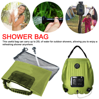 Outdoor 20L hotwater bathing equipment Water Bag For Outdoor Camping Hiking Solar Heating Shower Bag Hose Switchable Shower Head