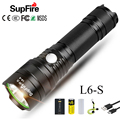 SupFire светодиодный фонарик USB факел 26650 вспышка L6-S полицейский SST40 W Linterna светодиодный Мощный 3000lm тактический фонарик Latarka