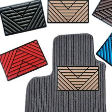 Универсальный черный ПВХ коврик для пола, 1 шт., накладки на пятку для ног, накладки на педали, 25x15 см, автомобильный коврик для ног
