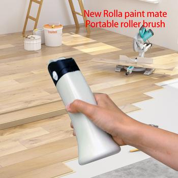 Farby biegacz szczotka rolkowa zestaw uchwytów ręczny wielofunkcyjny wałek do farby szczotka rolkowa pędzel farba do ścian wałek do farby farba do ścian ing tanie i dobre opinie NONE CN (pochodzenie) Brush Tool Portable Paint Roller 15 * 5 * 5cm 5 9*1 96*1 96 300 ml White