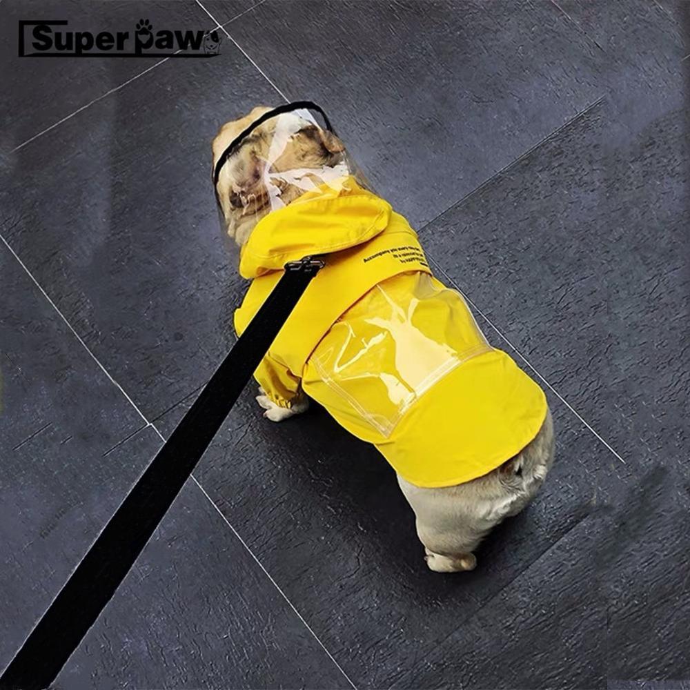 Модный Плащ для собак, домашних животных дождевик для животных, высокое качество Водонепроницаемый куртка для малых и средних собак панель
