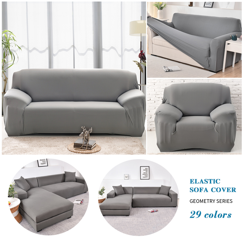 Elastic Plain Solid Coolazy Sofa Cover 4 Chair And Sofa Covers