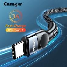 Essager Usb Type C Kabel Snelle Opladen Lader Voor Samsung Xiaomi USB-C Usb C Data Draad Koord Mobiele Telefoon Usbc type-C Kabel 2M