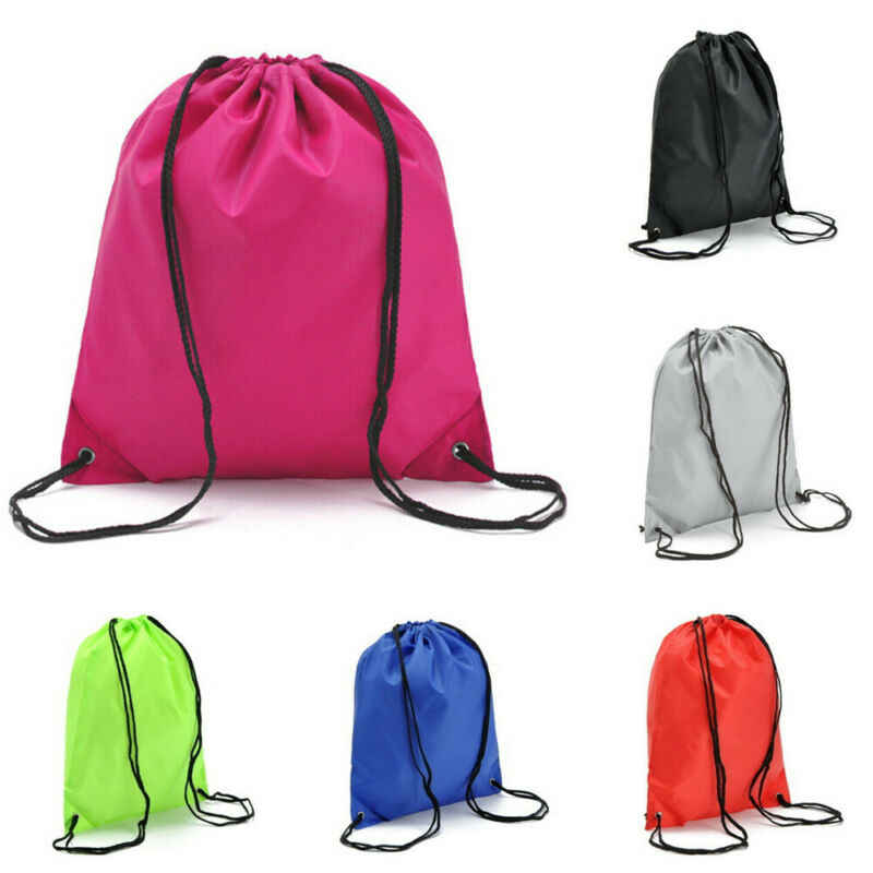 Tali Serut Back Pack Menang Karung Gym Tote Tas Kecil Sekolah Sepatu Olahraga Tas Saku/BL1