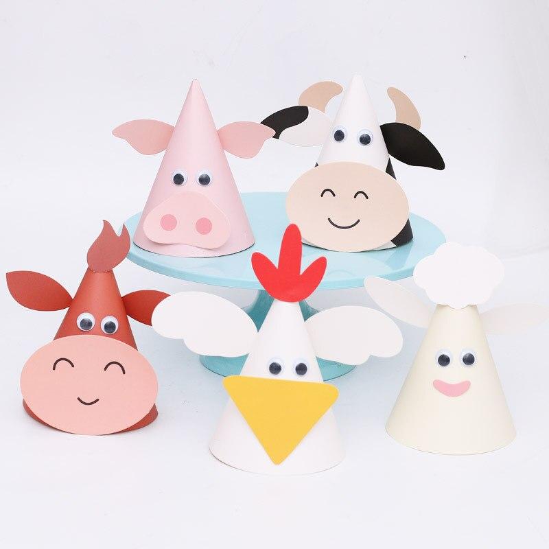 Fun Barnyard Farm House Animal Theme Boy Girl Birthday Party Hat Baby Shower Gender Reveal Thanksgiving Decoration Supplies Gift