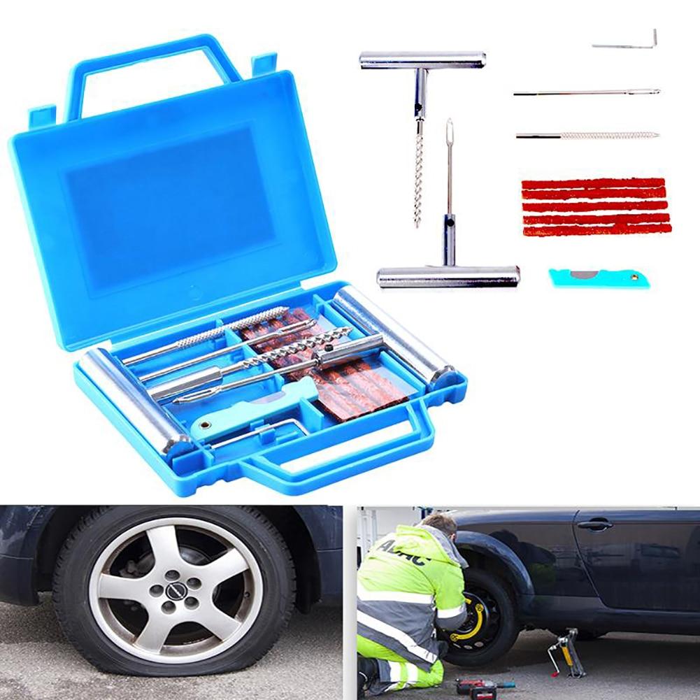 7pcs Car Tire Repair Tool Vehicle Portable Motorbike Wheel Tire Repair Tools Set Fix Kit Mending Wheel Repair Set
