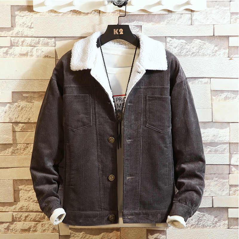 Зимние новые парки мужские и женские парные модели Вельветовая хлопковая куртка мужские утепленные теплые хлопковые парки Пальто Размер M-3XL