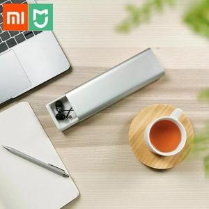 Image 1 - 新 Xiaomi Mijia Miiiw ペンケースオフィス学生鉛筆ケース学用品ペンボックスアルミ合金 ABS + Pc リンゴの鉛筆
