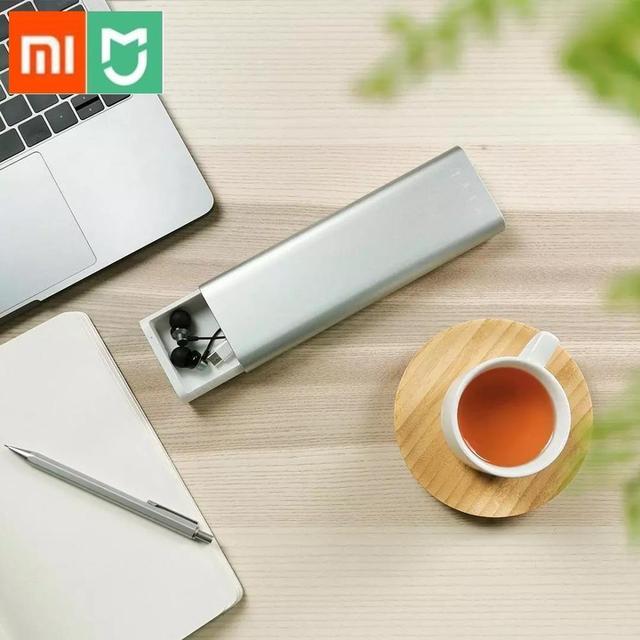 新 Xiaomi Mijia Miiiw ペンケースオフィス学生鉛筆ケース学用品ペンボックスアルミ合金 ABS + Pc リンゴの鉛筆