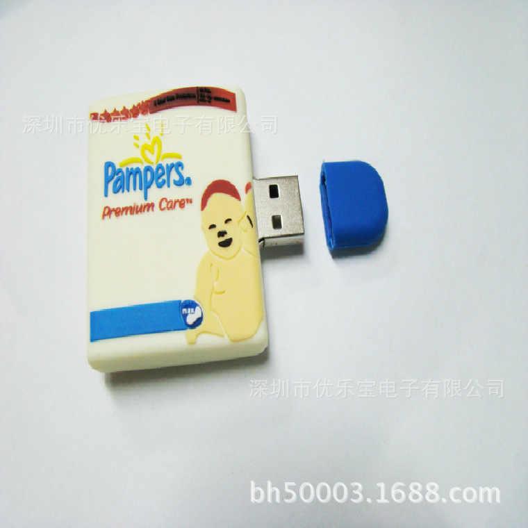 Nhựa PVC Sách Ổ USB 1 GB-32 GB Moq 150 Cái LỖ 2000-Khuôn Phí