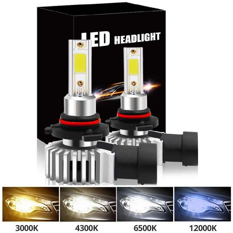 2 Stuks Led Auto Koplamp H11 H7 Lamp H1 H8 H9 9005 HB3 9006 HB4 3000K Geel Licht 6000K Wit Licht 12000K Ice Blue Mistlamp