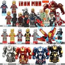 Одиночная Мстители супер герой Железный человек MK50 совместимые Legoingly фигурки Строительные блоки Набор кирпичей модель игрушки для детей