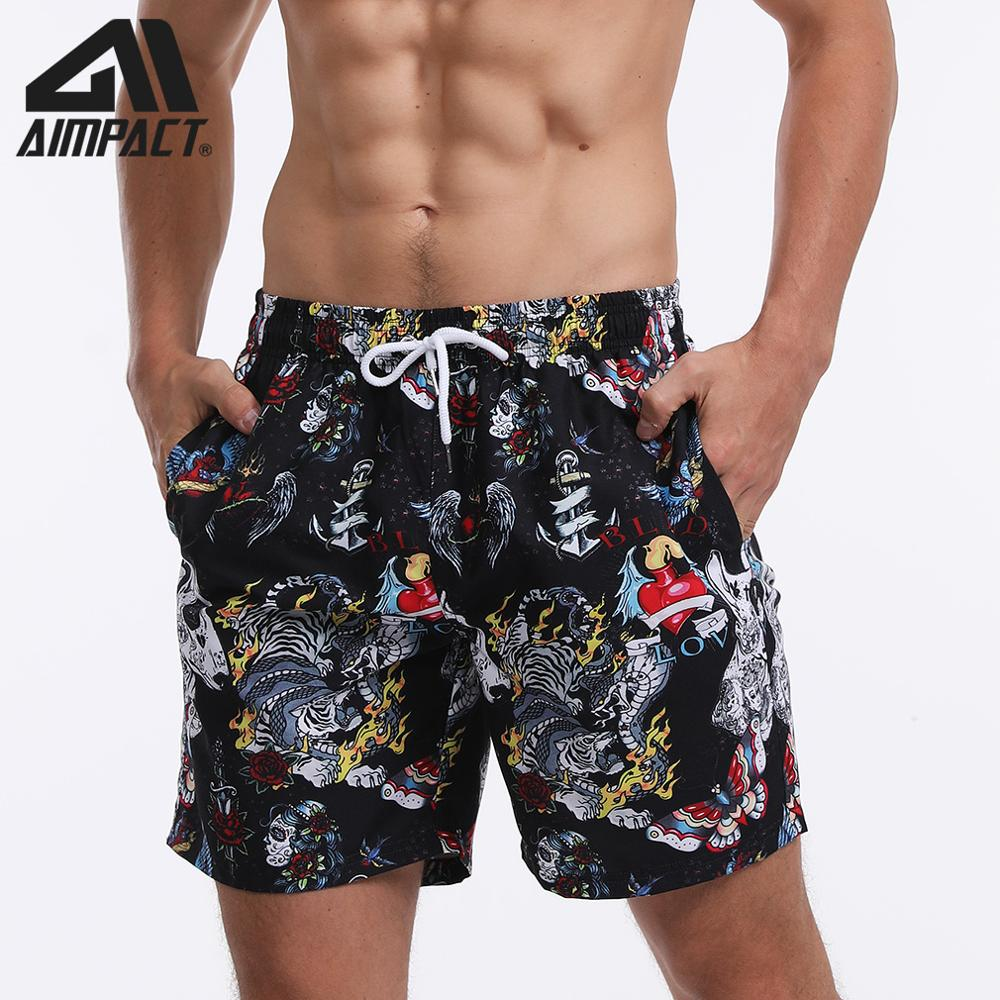 Men's Beach Shorts Summer Athletic Shorts Square Leg Shorts Swimming Trunks Men's Sportswear With 3D Fashion Printed By AMPACT