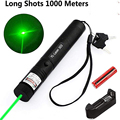 Hunting High Power Adjustable Focus Burning Green Laser Pointer Pen 532nm Continuous Line 500 to 10000 meters Lazer 301 range