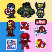 Marvel Patches Iron man Spiderman Captain America Hulk Thor anime cartoon Patches Stickers Clothes Embroidered Applique Patches