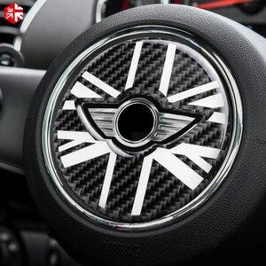 Image 3 - MINI Cooper Countryman için F60 karbon Fiber direksiyon merkezi 3D Sticker çıkartma kapak araba tasarım iç dekorasyon