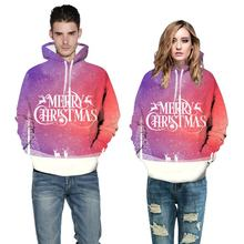 2020 Christmas Couple Lovers Sweatshirt Autumn Winter New Men Womens Hoodies Year 3D Print Clothes Gifts