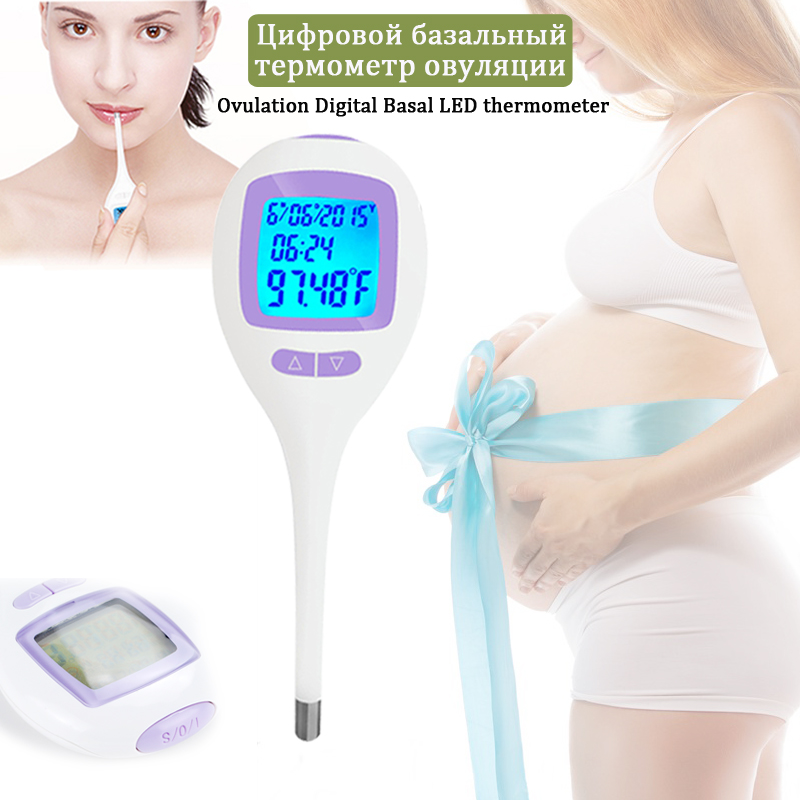 Ovulation Digital Basal LED Thermometer Accurate To The 1/100th Ovulation Track Natural Family Planning Fertility Monitor