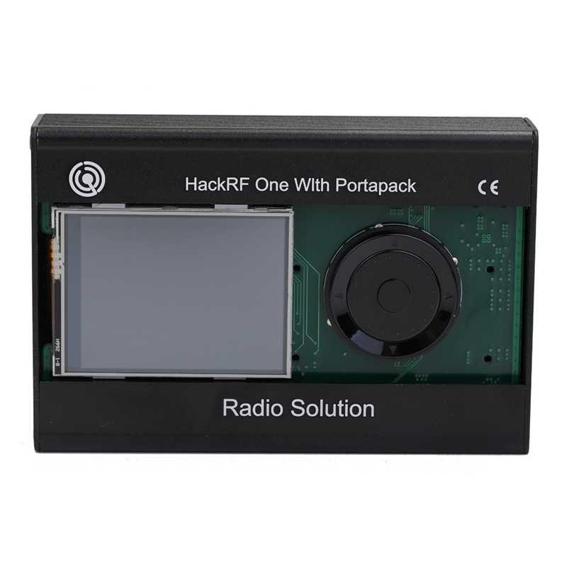 AMS-2.4 אינץ מגע Lcd פנל Portapack עם 0.5Ppm Tcxo Gps שעון עם מתכת מקרה עבור Hackrf אחד Sdr