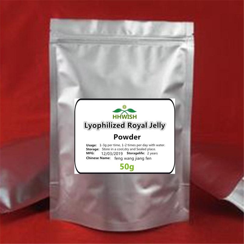 50-1000g Food Grade Lyophilized Royal Jelly Powder, Bee Milk,10-HAD>6.0%,Enhance Memory,free Shipping