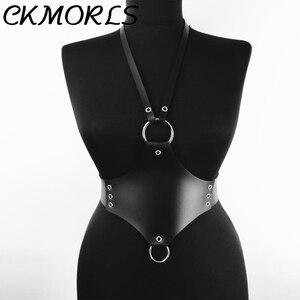 Image 1 - CKMORLS עור בירית חגורת פאנק בציר ביריות גוף סקסי ארוטי הלבשה תחתונה נשים Jartelles קלע Ghotic Bdsm Bondage לרתום