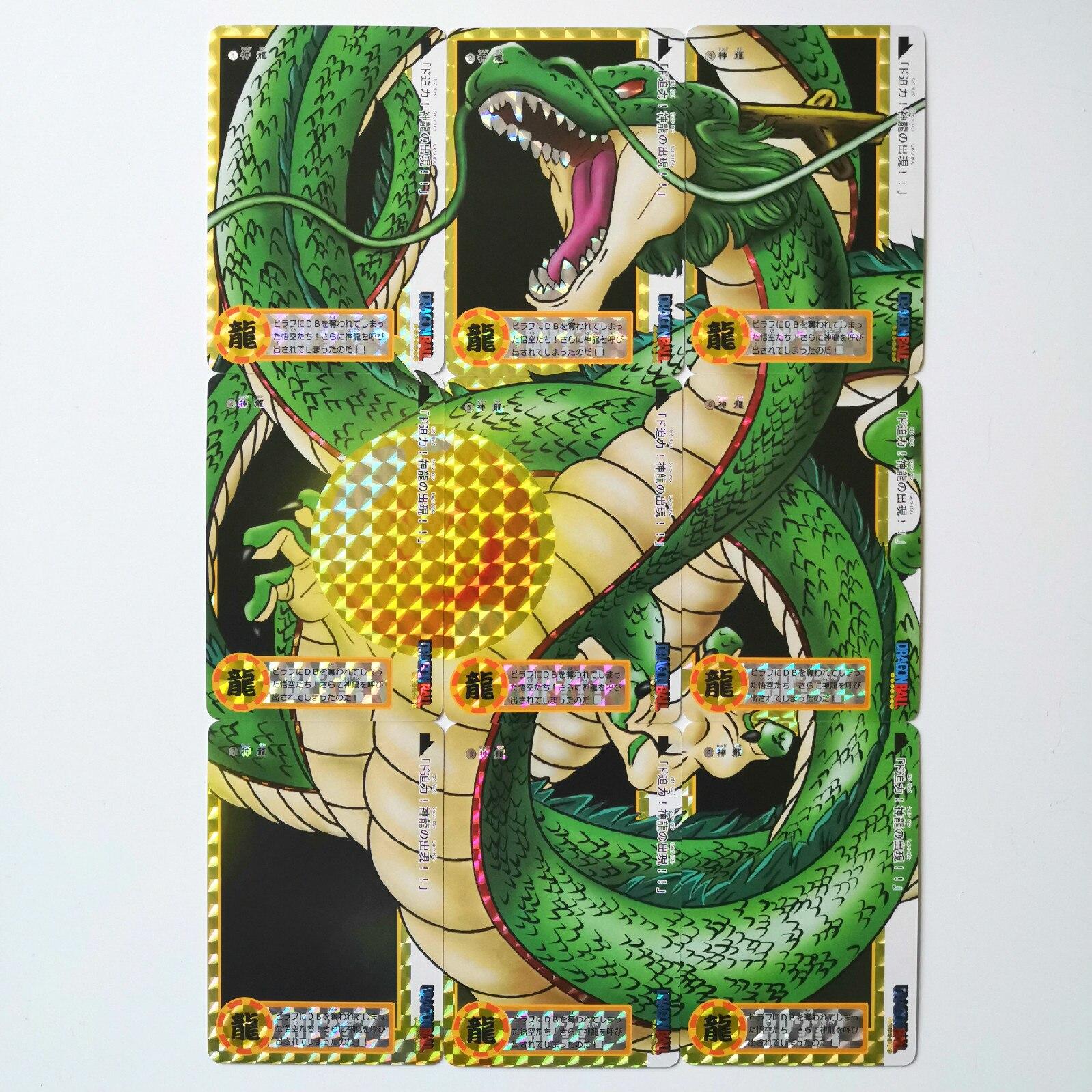 9pcs Shenron 9 In 1 Super Dragon Ball Z Heroes Battle Card Ultra Instinct Goku Vegeta Game Collection Cards