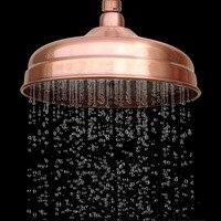 Red Antique Copper Shower Head 8 inch Round Rainfall Shower Head Bathroom Shower Head Rain Shower Ksh054