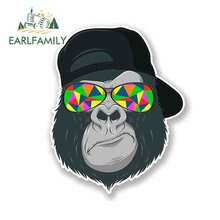 EARLFAMILY 13cm x Car Stickers Cool Gorilla RV VAN 3D DIY Fine Decal JDM Vinyl Wrap Bumper Trunk Truck Graphics