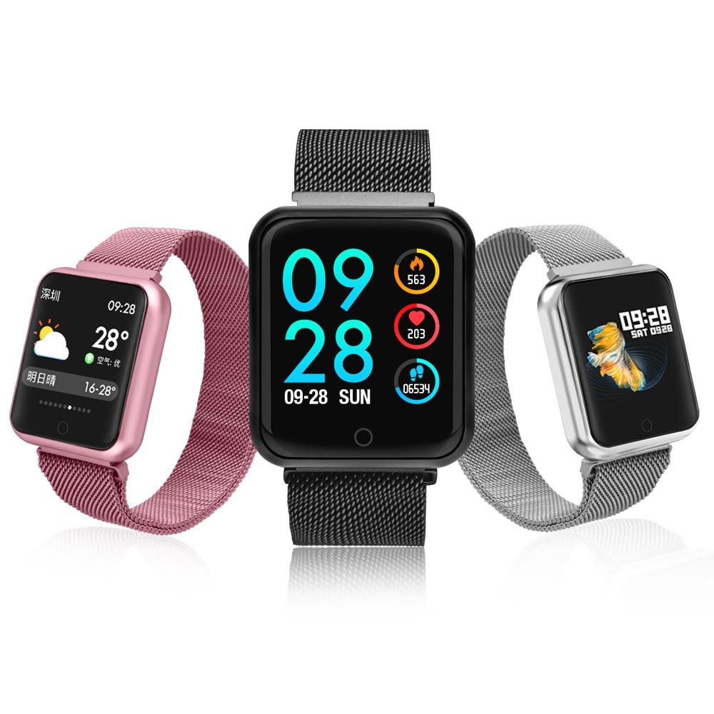P68 femmes montre intelligente hommes sommeil Sport Tracker IP68 étanche pression artérielle oxygène moniteur de fréquence cardiaque Smartwatch pour Xiaomi IOS