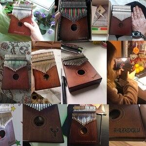 Image 2 - Новинка, калимба с 17 клавишами, пианино с большими пальцами из массива африканского дерева, Sanza Mbira Calimba, игры с гитарой, деревянные музыкальные инструменты
