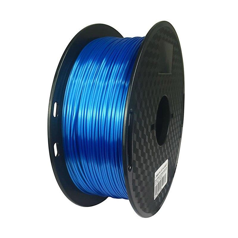 do filamento da impressora do pla da safira do pla azul 500mm 3d