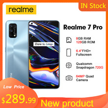 Realme 7 Pro 6.4 ''FHD + 8GB 128GB Smartphone 65W SuperDart Charge 10V/6.5A 64MP plein écran Octa Core 4500mAh téléphone portable 7