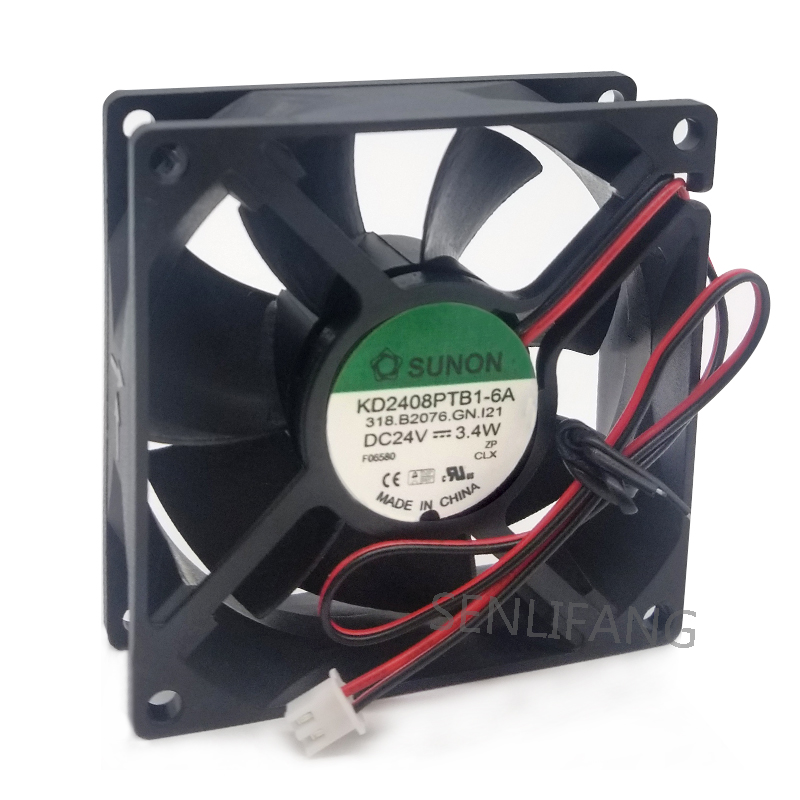For 8025 8cm 24V 3.4W KD2408PTB1-6A Inverter Cooling Fan Free Shipping