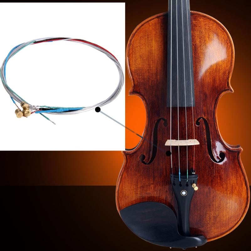 4pcs/set Violin Strings Musical Instrument Parts Accessories Fiddle String Replacement For 3/4 & 4/4 Violin