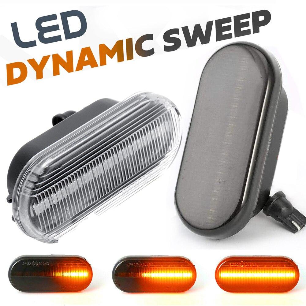 2 шт. светодиодный динамический боковые габаритные огни светильник лампы сигнала поворота для Skoda Felicia Octavia 1U Citigo