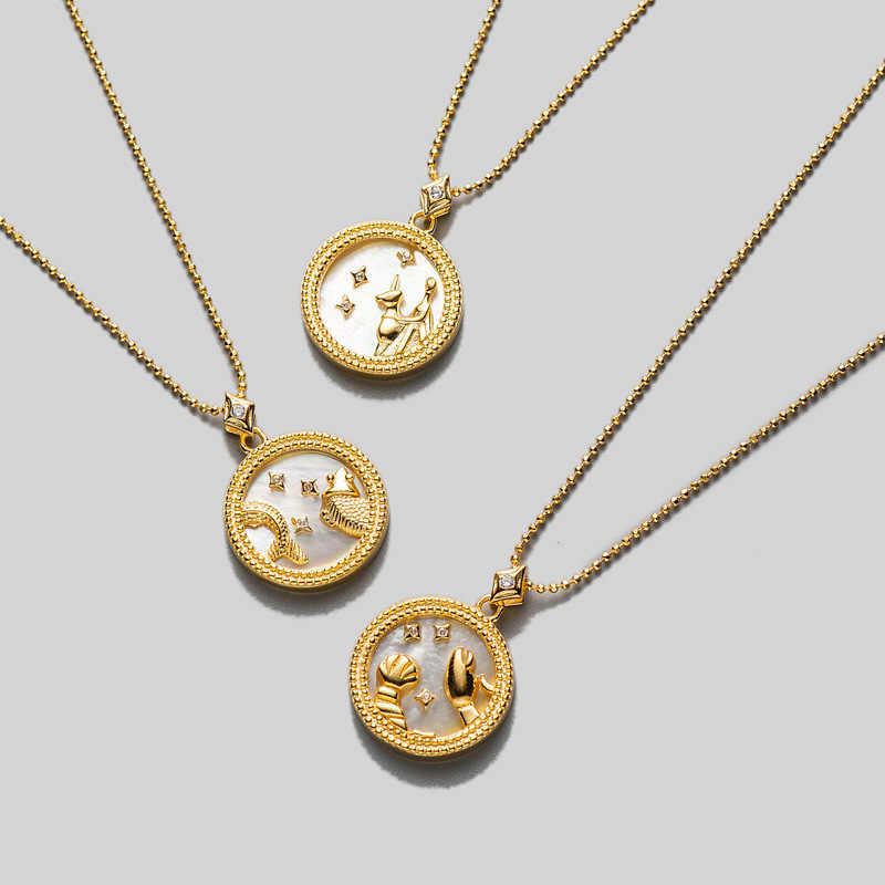 Astrological Pendant Libra Gold or Silver Zodiac Sign Necklace