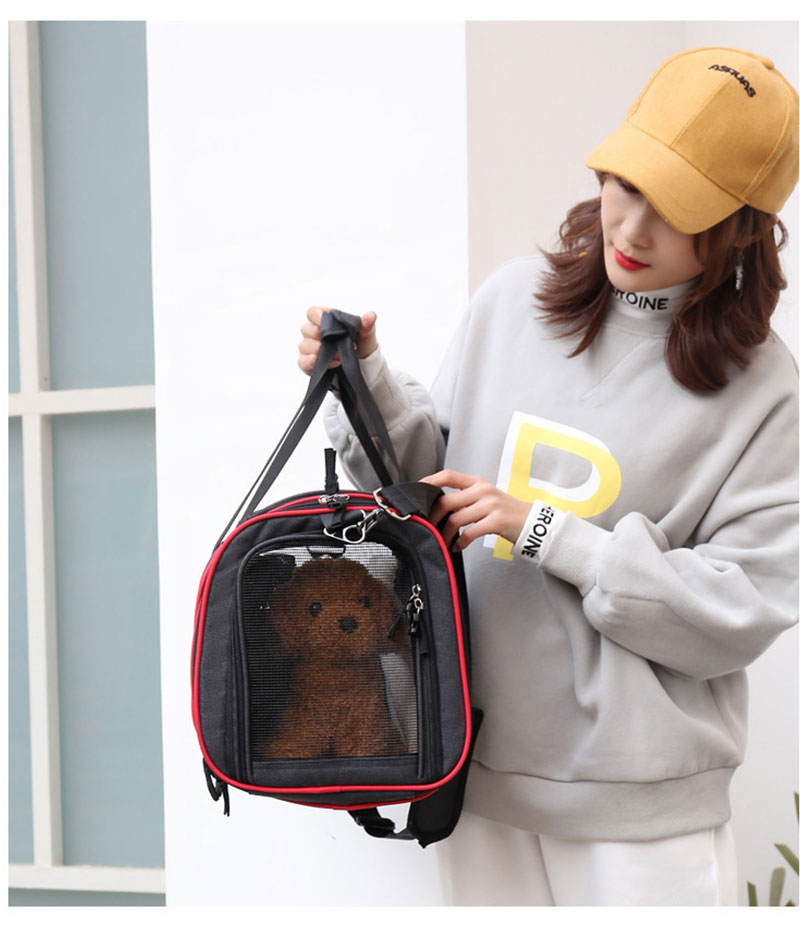 1pc Multi functional Folding Pet Puppy Dog Carrier Dog Cat Car Seat Basket Mat Cage Safe Carry Seat Bag Pet Shoulder Bag Carrier in Dog Carriers from Home Garden