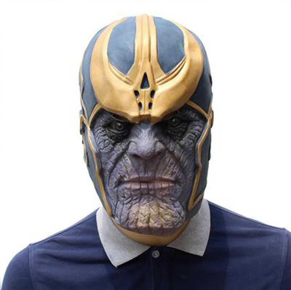 Avenger Alliance 4 Final Battle Thanos Kill Hegemony Helmet Latex Mask Deluxe Cosplay Projects