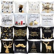 PATIMATE חג המולד כרית מקרה החג שמח קישוט לבית קישוטי חג המולד 2019 חג המולד Navidad מתנות לשנה חדשה 2020