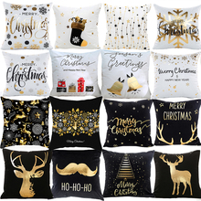 PATIMATE Christmas Pillow Case Merry Christmas Decoration For Home Christmas Ornaments 2019 Xmas Navidad Gifts New Year 2020